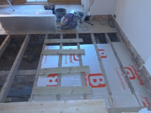 insulating a suspended floor