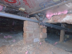 insulating suspended floor from the crawl space underneath