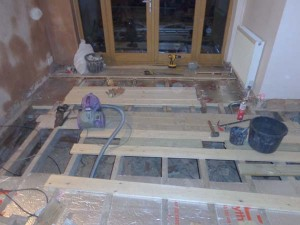 When insulating floorboards take the opportunity to replace damaged floorboards and replaster walls
