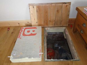 Access to crawl area of suspended timber floor