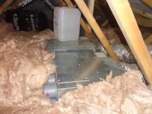 mvhr air distribution box uninsulated