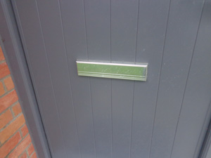 letterbox does not help heat loss or airt-tightness