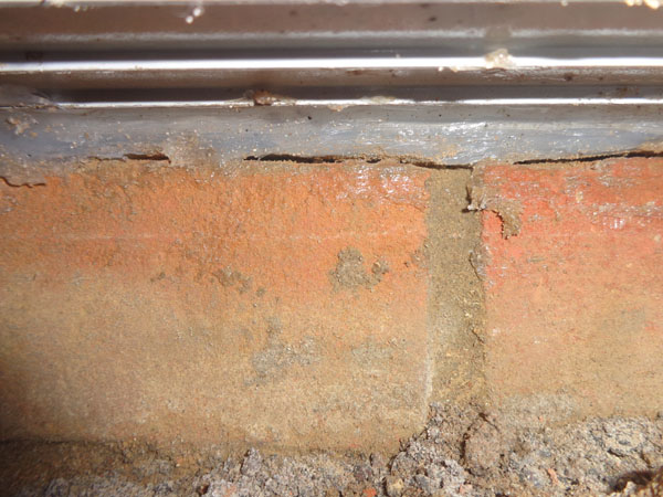 View Under Door Sill After Filling With Sealant Great Home