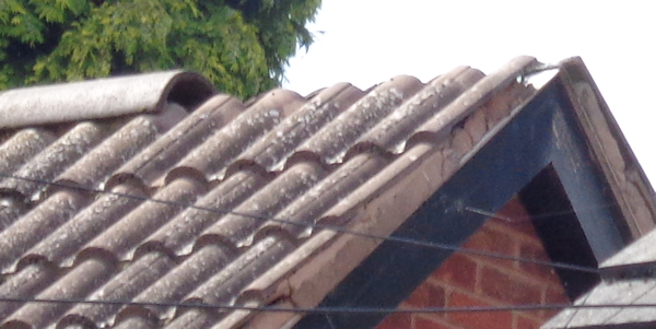 Missing Ridge Tile On Concrete Roof