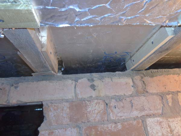 50mm insulation was used to still allow air flow over sleeper walls