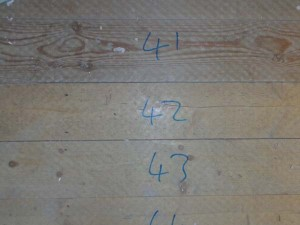 Number floor boards before removing to make replacing easier