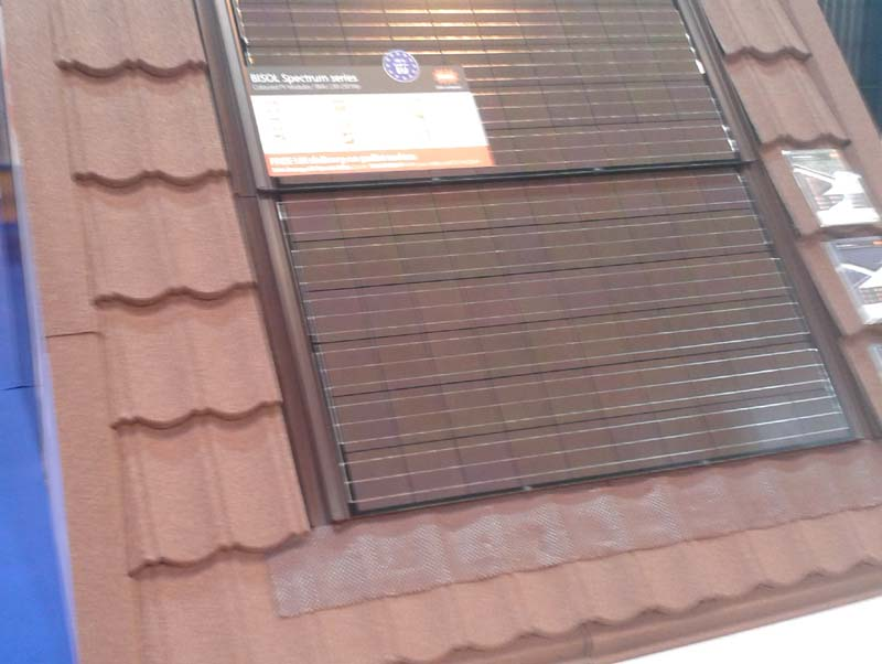 Coloured solar panels to complement a roof from BISOL