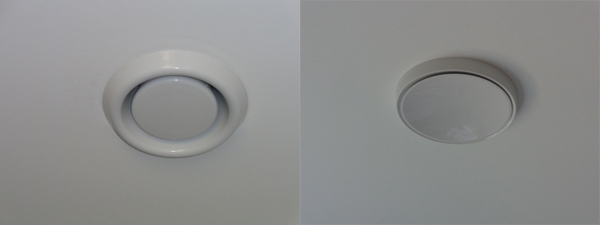 Outlet and inlet vents
