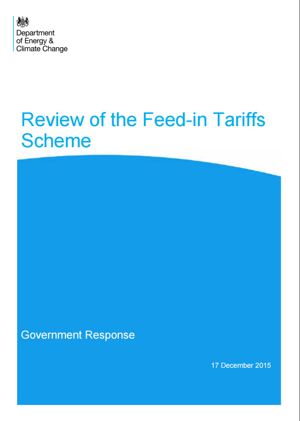 Review Of The Feed-in Tariffs Scheme