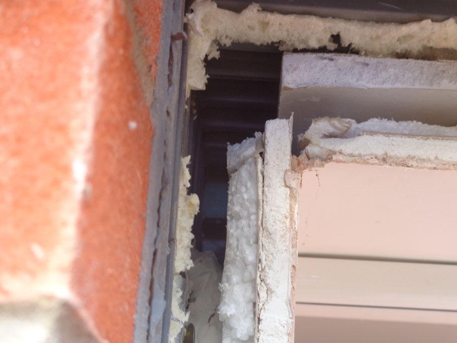 Close Up Of Left Hand Corner Of Door Head