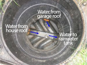 Inspection chamber for rainwater capture